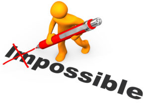 image of a figure crossing the im out of impossible because creating a Culture of Motivation is possible